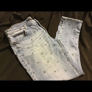 Cute polka dot jeans from H&M. In size 12.
